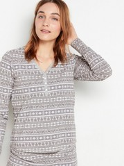 Mönstrad grå pyjamastopp Grå