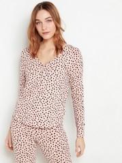 Mønstret rosa pyjamasoverdel Rosa