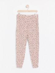 Vzorované pyžamové kalhoty Růžová