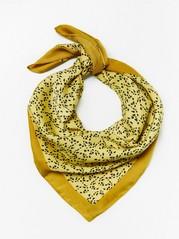 Vzorovaný saténový šátek Limetková