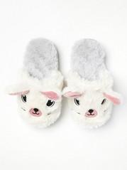 Bílá domácí obuv Bílá