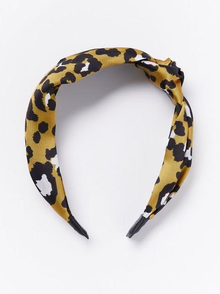 Leopardikuvioitu hiuspanta Keltainen