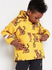 Kuvioitu softshell-takki Keltainen