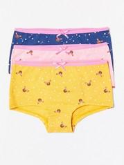 3 paria alushousuja, joissa peuroja ja tähtiä Vaaleanpunainen