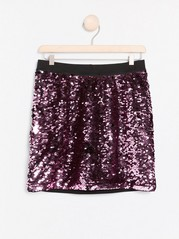 Skirt with reversible sequins Black