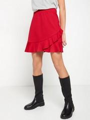 Žerzejová sukně svolánem Červená