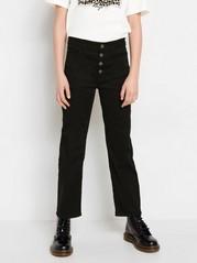 Vida croppade jeans med high waist Svart