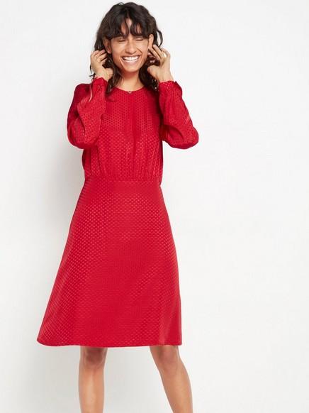 Röd långärmad klänning Röd
