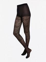 Seeprakuvioidut sukkahousut, 20 denieriä Musta