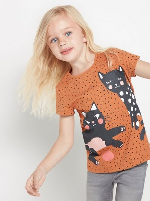 Brown top with cats Brown