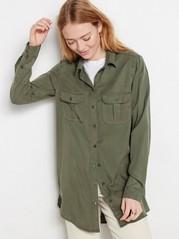 Grønn skjorte i lyocell Grønn