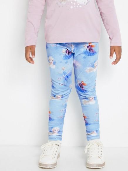 Siniset leggingsit, joissa on Frozen-painatus Valkoinen
