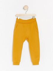 Žerzejové kalhoty Žlutá