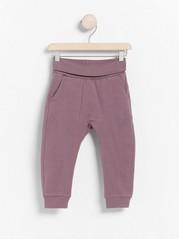 Žerzejové kalhoty Fialová