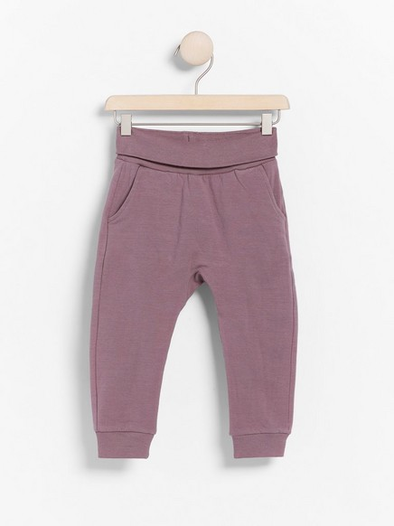 Jersey trousers Lilac
