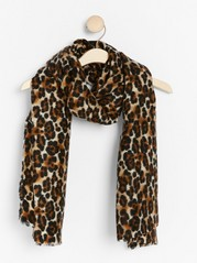 Leo patterned scarf  Brown