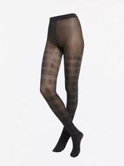 Kimaltavat ruutukuvioidut sukkahousut, 50 denieriä Musta