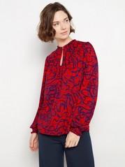 Röd blus med mönster Röd