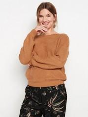Stickad tröja Orange