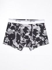 Boxershorts med grått camouflage-mönster Grå