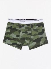 Boxershorts med grönt camouflagemönster Khaki