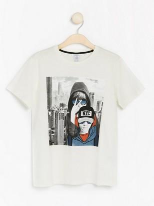 T-shirt med tryck Vit