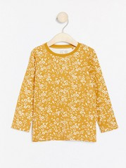 Floral patterned long sleeve top Yellow
