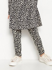 Leopardmönstrade leggings Beige