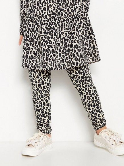 Leopardikuvioidut leggingsit Beige