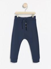Žerzejové kalhoty Modrá
