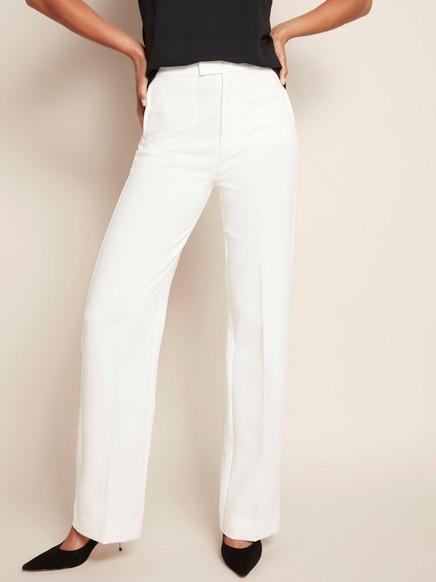High waist-byxa Vit