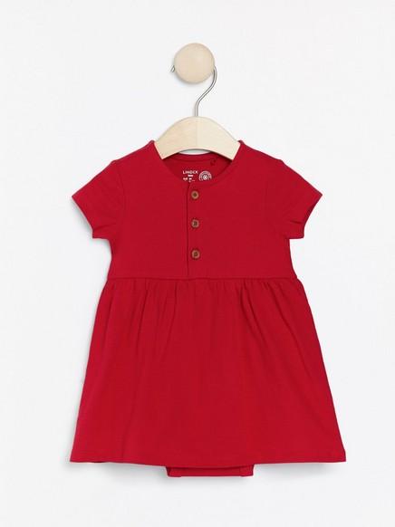 Lyhythihainen mekko, jossa body Punainen