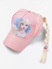 Vaaleanpunainen Frozen-lippis, jossa letti Liila