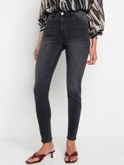 VERA Svarta skinny jeans med high waist Svart