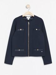 Marineblå jakke Blå