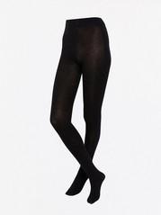 Mustat sukkahousut, joissa kimallelankaa Musta