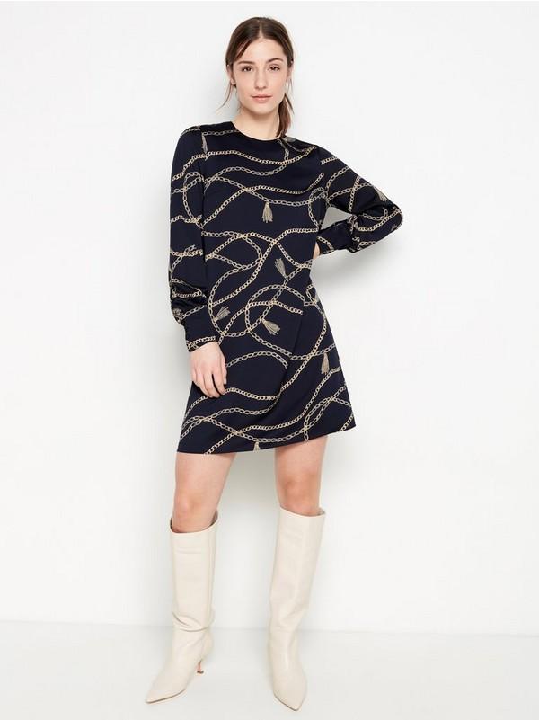 Blå Marinblå a linjeformad klänning 149:50 | Lindex