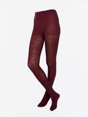 Brokadikuvioidut sukkahousut, 60 denieriä Punainen