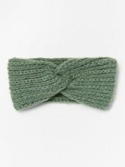 Strikket hodebånd med vridd front Grønn