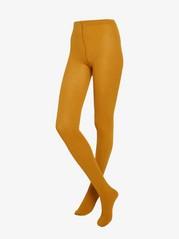 Žebrované punčochové kalhoty Žlutá