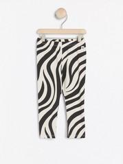 Leggings med zebramönster Beige