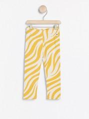 Leggings med zebramönster Gul
