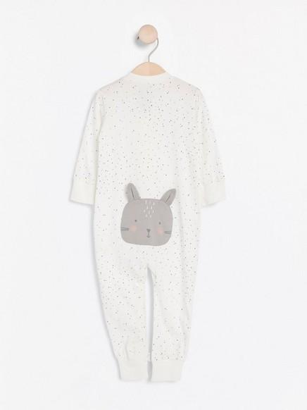 Pyžamo skrálíčkem Bílá