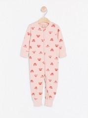 Vaaleanpunainen pyjama, jossa possuja Vaaleanpunainen