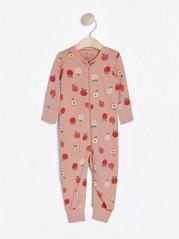 Pyjama, jossa hedelmiä Vaaleanpunainen