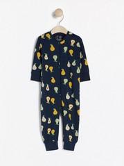 Pyjama, jossa hedelmiä Sininen