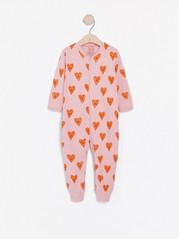 Pyjamas med hjärtan Rosa