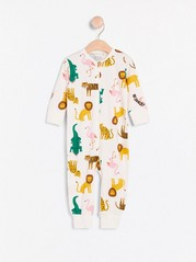 Pyjamas med djur Vit
