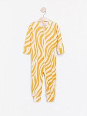 Pyjamas med gult sebramønster Gul