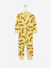 Gul pyjamas med leoparder Gul